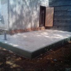 Заливка фундаментной плиты под веранду