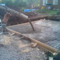 Заливка фундаментной плиты под дом п. Симагино